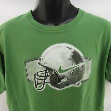 Vintage Nike T-Shirt Xl Green Football Helmet Tee Silver Label Extra Large