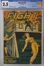 FIGHT COMICS #41 CGC 2.5 GOLDEN AGE BONDAGE COVER