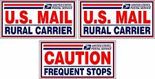 """NEW 3 U.S. Mail Delivery Magnetic Signs Rural Delivery Carrier Magnet 6""""X12"""""""