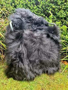 XXXL Huge Black Icelandic Sheepskin Rug - 145cm by 90cm A+++ (701)