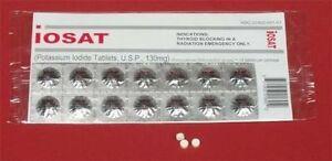 Genuine IOSAT Potassium Iodide Radiation Tablets 130mg expiry 04/2024 World Ship