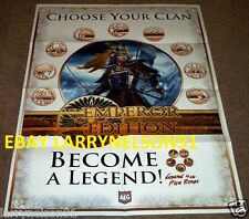L5R LEGEND OF THE FIVE RINGS POSTER EMPEROR EDITION CHOOSE YOUR CLAN SAMURAI OOP