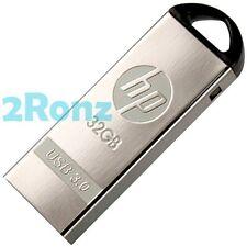 HP x720w 32GB 32G USB 3.0 Flash Drive Memory Disk Capless Mirror Metal Silver