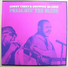 SONNY TERRY Brownie McGhee LP Preachin The BLUES Folkways FTS 3124