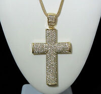 2 SIDED 3D ICED OUT JESUS CROSS PENDANT (NO CHAIN INCLUDED) HIPHOP CZ BLING