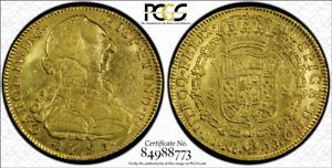 G018 rare COLOMBIA 1791-JJ 8 Escudos gold, Santa Fe de Nuevo Reino (Bogota) mint