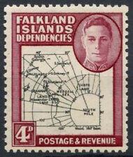 Falkland Islands Dep. 1946-9 SG#G5, 4d KGVI Thick Map MH #D7231