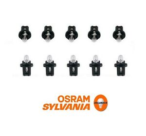 10-Pieces Instrument Panel Light Bulb 1.2w Black Base 62 11 1 368 299 NEW