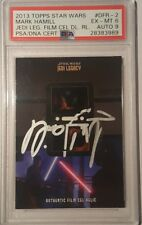 2013 Mark Hamill Topps Star Wars Jedi Legacy Film Cell Relic Signed PSA 6 AUTO 9