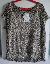 TOGETHER ANIMAL PRINT TOP / BLOUSE & CREAM CAMI VEST SIZE 24 UK 52 EU *NEW*