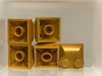 3678b Pendiente de Lego 65 ° 2x2x2 con tubo de fondo Blanco x8