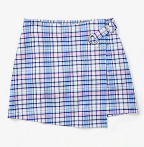 JUSTICE Nwt Girls Plaid Skirt Skort Blue Size 14//16
