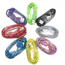 8X Micro USB Braided Colourful Charging Power Data Cable Samsung Galaxy HTC LG