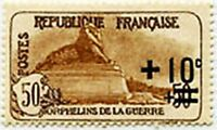 "FRANCE STAMP TIMBRE N° 167 "" ORPHELINS LION DE BELFORT +10c S.50+50c "" NEUF x TB"
