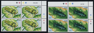 Fiji 878-81 TR Plate Blocks MNH Insects, Beetles