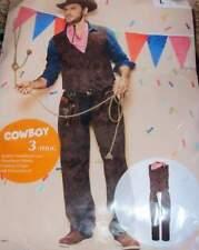 Cowboy Herren Kostüm 3tlg. braun Karneval Fasching Kostüm Gr. L 52/54