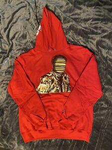 Boldy James Versace Tape Hoodie Red Large