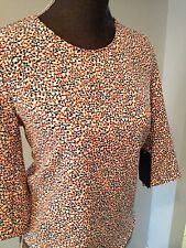ZARA MULTICOLOR TOP WITH BOWS ON THE BACK MEDIUM NWT