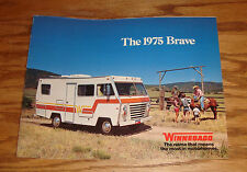 Original 1975 Winnebago Brave Foldout Sales Brochure 75 D-20 D-24