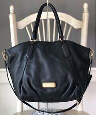MARC by MARC JACOBS Q Francesca BLACK Pebbled Leather Tote Hobo Handbag Large