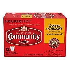 Community Coffee Coffee & Chicory Single Serve K- Cups, 12 count