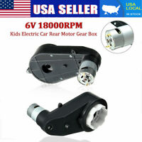 US 6V 18000RPM Electric Motor Gear Box For Kids Ride On Car Bike Toy Spare Parts