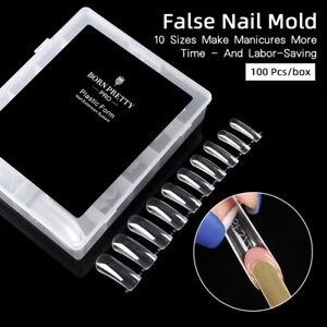 BORN PRETTY Pro 100 Pcs/box False Nail Mold Tips Finger Extension Nail Art Tool