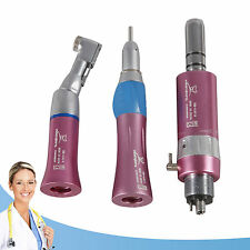 Dental Slow Low Speed Handpiece NSK type contra angle straight air motor pink