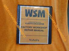 KUBOTA KX040-4 EXCAVATOR Workshop Service Repair Manual BINDER