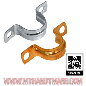 10x 15mm, 22mm, Chrome, Copper, Saddle Band Clips Pipe Brackets