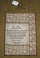Jesus Christ ~ Head of This House Tapestry Bannerette Wall Hanging
