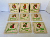 PILSNER URQUELL BEER COASTERS CZECH REPUBLIC Set of 9 drink coasters
