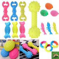 Puppy Pet Dog Colorful Dental Teething Healthy Teeth Chew Training Play Ball Toy