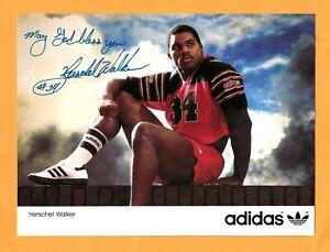 HERSCHEL WALKER SIGNED, AUTOGRAPHED 8X6 COLOR PHOTO--NFL FOOTBALL