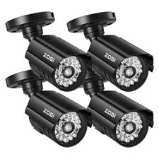 ZOSI 4 Pack Outdoor Bullet Fake Dummy Surveillance Security Camera with Red Light