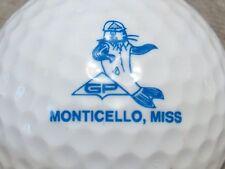 (1) Monticello Mississippi Logo Golf Ball