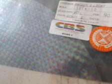 """Dichroic Glass: CBS 90COE Boxes 1 Pattern Rainbow on Thin Clear 3"""" Sq"""