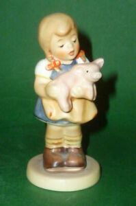 Vieux Figurine Goebel Hummel Hum 205 ma Joie Figure Club 2000 Sau