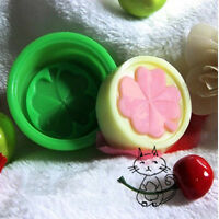 2Pcs  Four Leaf Clover Flower Silicone Handmade  3D Soap Mold DIY Craft P‥,