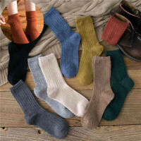 Wool Socks Soft Casual 5 Pairs Women Cashmere Lot Warm Thick Solid Sports Winter