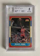 1986 Fleer Basketball Michael Jordan ROOKIE RC #57 BGS 4
