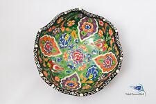 Turkish Bowl Ceramic Handmade Iznik Kutahya Large 16 cm