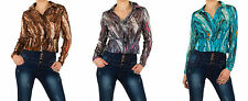 Markenlose Langarm Damenblusen, - tops & -shirts