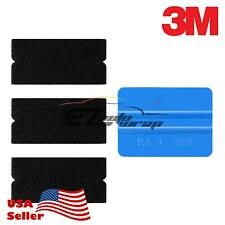 3M Blue Squeegee Applicator Tool Felt Edge Decal Tips x3 Vinyl Wrap DIY Kit Set