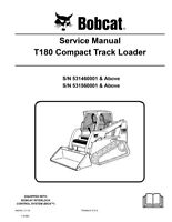 New Bobcat T180 Compact Track Loader 2010 Edition Repair Service Manual 6987042