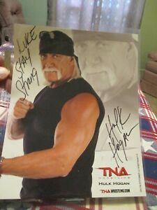 """The """"HULKSTER"""" HULK HOGAN LEGEND OF WRESTLING Autographed Signed 8X 10 PHOTO WOW"""