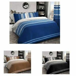 Velosso Tonal Stripe Reversible Quilt Cover Bedding Set { RICH COTTON }