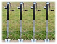 Square Drop Jacks x4, Side Winder - for Trailers, Caravans, Horse Floats, Canopy