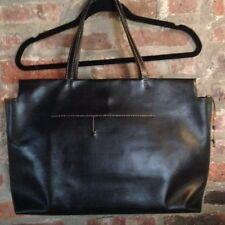 HENRY CUIR Beguelin Handmade Black Leather Tote /Bag /Purse/ Pocketbook/Satchel