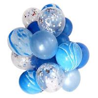 Lot de 20pcs Transparents Agate Ballons Latex Confettis Brillant Remplis